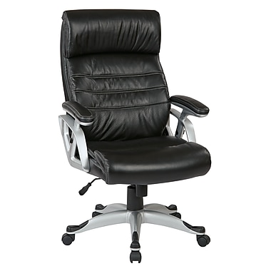 Worksmart Executive Chair w/ Coil Spring Seat, Black