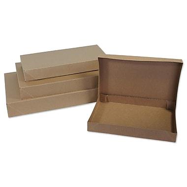 B2B Wraps 2-Piece Apparel Boxes, Kraft Pinstripe, 17 x 11 x 2 1/2