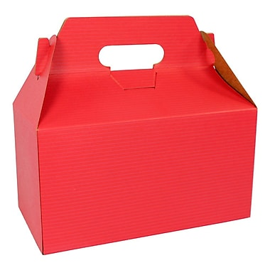 BOXit Gable Boxes Coloured Pinstripe, 100% Recyclable, 9 1/2 x 5 x 5