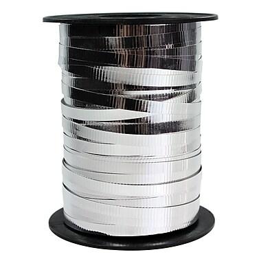 B2B Wraps – Ruban à friser métallique, gaufré, 3/16 po x 250 verges, argenté