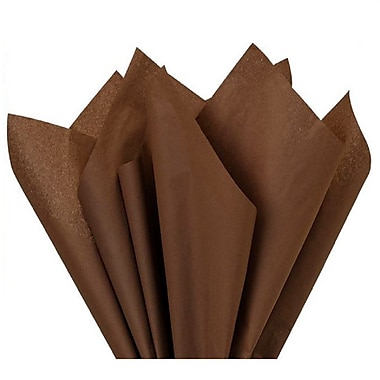 Nashville Wraps – Papier de soie de couleur 20 x 26 po, qualité MF n°1, 100 % recyclé, chocolat, paq./48 feuilles