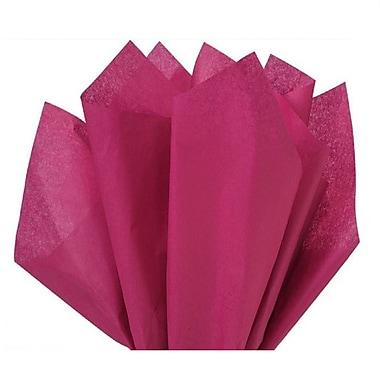 Nashville Wraps – Papier de soie de couleur 20 x 26 po, qualité MF n°1, 100 % recyclé, canneberge, paq./48 feuilles