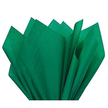 Nashville Wraps – Papier de soie de couleur 20 x 26 po, qualité MF n°1, 100 % recyclé, émeraude, paq./48 feuilles