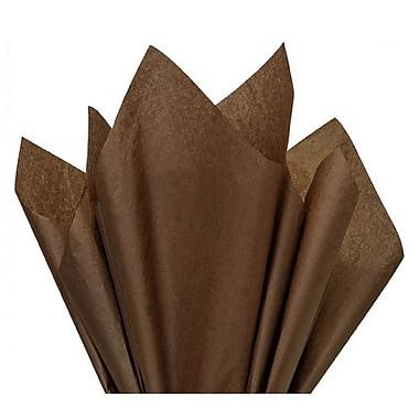 Nashville Wraps – Papier de soie de couleur 20 x 26 po, qualité MF n°1, 100 % recyclé, espresso, paq./48 feuilles