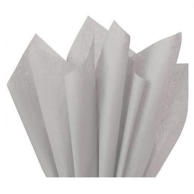 Nashville Wraps – Papier de soie de couleur 20 x 26 po, qualité MF n°1, 100 % recyclé, gris, paq./48 feuilles