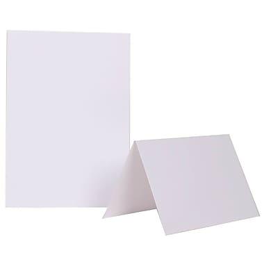 JAM PaperMD – Cartes vierges à plier, 5 x 6 5/8 po, blanches, 500/pqt