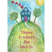 """LANG Loving Home 12"""" x 18"""" Mini Garden Flag (1700000)"""