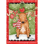 "LANG Joyful Reindeer 12"" x 18"" Mini Garden Flag (1700005)"