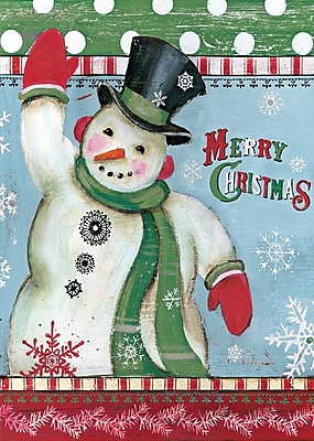 LANG Merry Snowman 12x18 Mini Garden Flag (1700007)