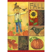 """LANG Fall Scarecrow 12"""" x 18"""" Mini Garden Flag (1700016)"""