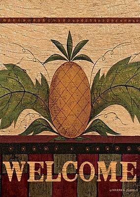 LANG Welcome Pineapple 12x18 Mini Garden Flag (1700022)