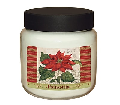 LANG Poinsettia 16 oz Jar Candle (3140002)