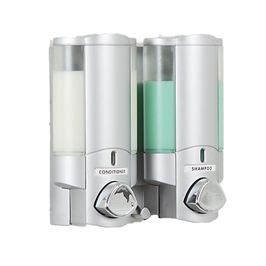 Aviva – Distributeur à savon avec 2 réservoirs, argenté satiné