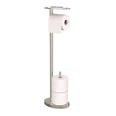 Ovo Toilet Caddy, Polished Nickel