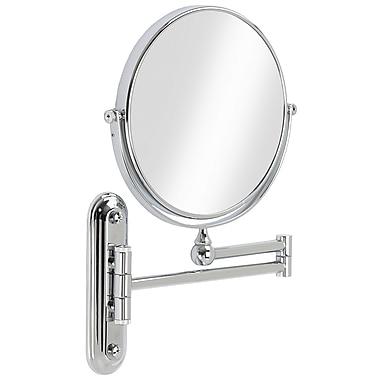 Valet – Miroir mural grossissant 8 po, chrome