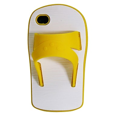 Exian iPhone 4/4s Silicon Sandal Case, Yellow