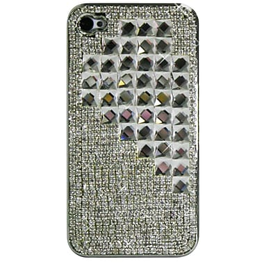 Exian Case for iPhone 4, Crystals Half Heart