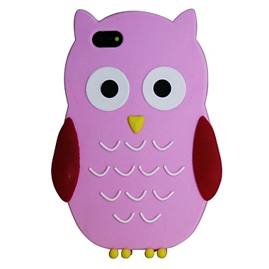 Exian iPhone SE/5/5s Silicon Owl Case, Pink