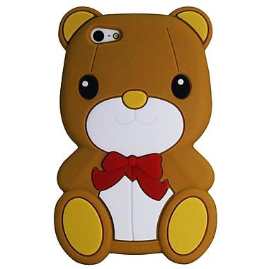 Exian – Étui en silicone en forme d'ourson pour iPhone 5/5s