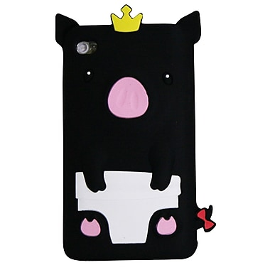 Exian Case for iPod Touch 4, Pig Black