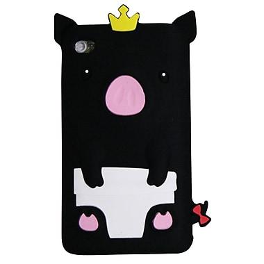 Exian – Étui pour iPod touch 4, cochon noir