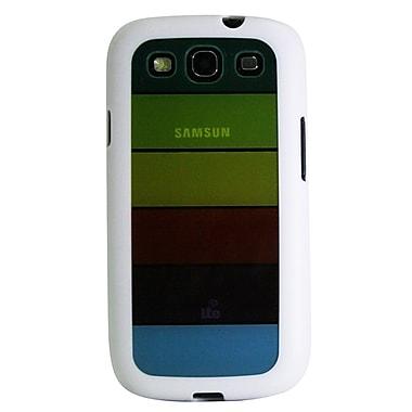 Exian – Étui pour Galaxy S3, arc-en-ciel transparent