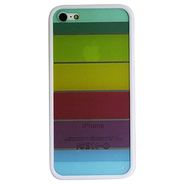 Exian iPhone SE/5/5s Transparent Case, Rainbow Colourful Pattern