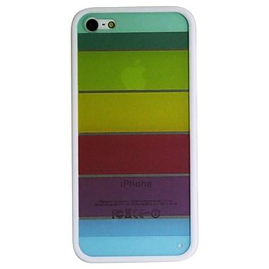 Exian – Étui transparent aux couleurs de l'arc-en-ciel pour iPhone 5/5s