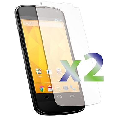 Exian Nexus 4 Screen Protector, 2 Pieces, Clear
