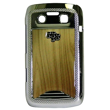 Exian Case for Blackberry Bold 9790, Wood with Silver Sides