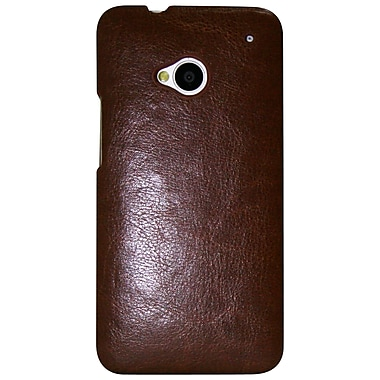 Exian Case for HTC One, Brown Leather