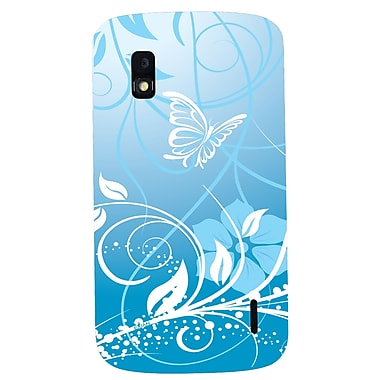 Exian Nexus 4 TPU Case, Butterfly & Flowers Blue
