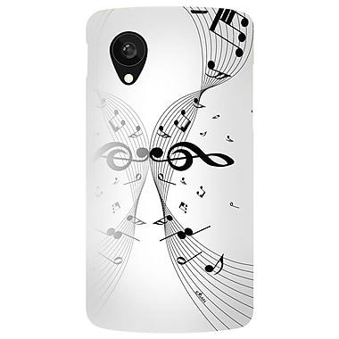 Exian – Étui blanc à motif de notes de musique pour Nexus 5