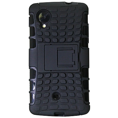 Exian Case for Nexus 5, Armored with Stand Black