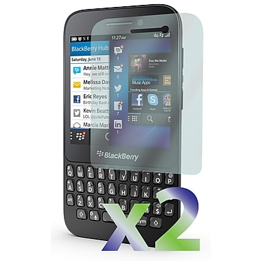 Exian Blackberry Q5 Screen Protector, 2 Pieces, Anti Glare