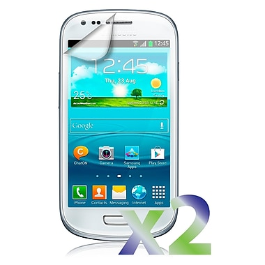 Exian – 2 protecteurs d'écran transparents pour Galaxy S3 Mini