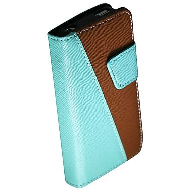 Exian iPhone 4/4s Leather Wallet Case with Card Slots, Green