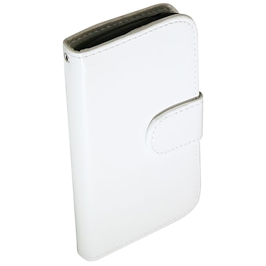 Exian Leather Wallet Case for Galaxy Ace 2X, White