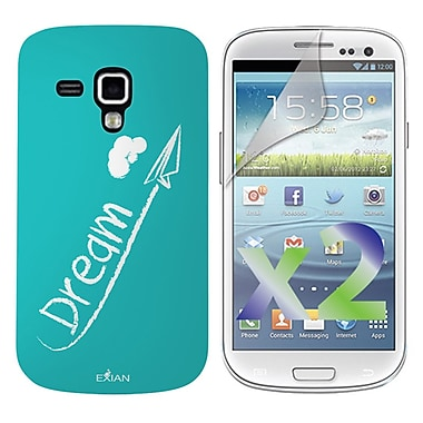Exian – Étui « Dream » blanc sur fond sarcelle pour Galaxy Ace 2X