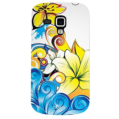 Exian Case for Galaxy Ace 2X, Floral Pattern Yellow Blue White