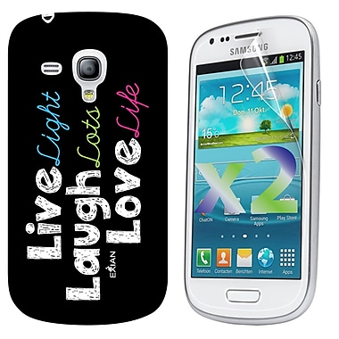 Exian – Étui « Live, Laugh, Love » pour Galaxy S3 Mini