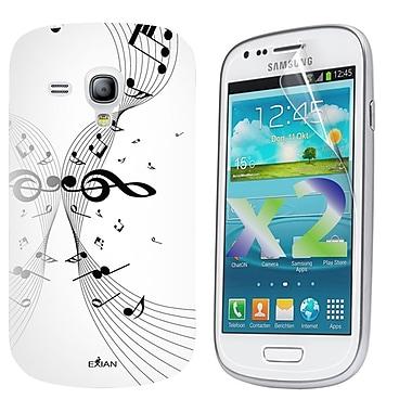 Exian – Étui avec notes de musique pour Galaxy S3 Mini
