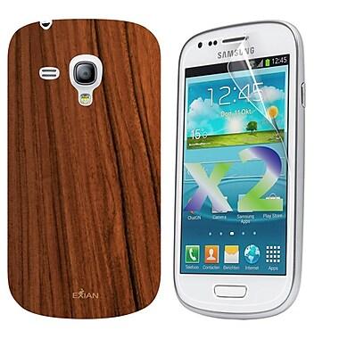 Exian – Étui à motif de grain de bois pour Galaxy S3 Mini