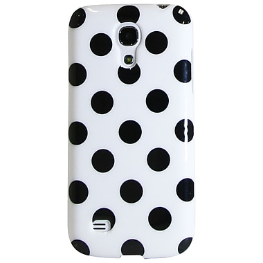 Exian Case for Galaxy S4 Mini, Polka Dots White