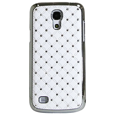 Exian Case for Galaxy S4 Mini, Embedded Crystals White