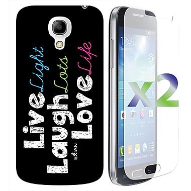 Exian Case for Galaxy S4 Mini, Live Laugh love