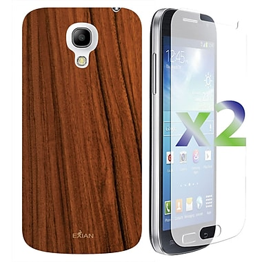 Exian Case for Galaxy S4 Mini, Wood Grain Pattern