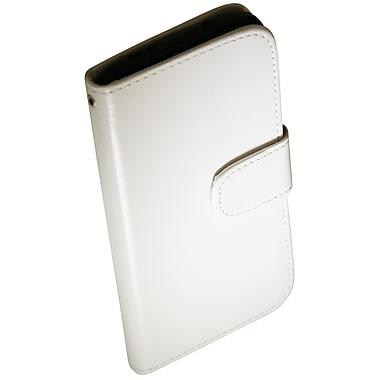 Exian – Étui portefeuille pour Galaxy S4 en cuir blanc