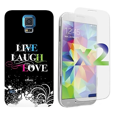 Exian Case for Galaxy S5, Live Laugh Love