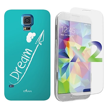 Exian Case for Galaxy S5, Dream White on Teal